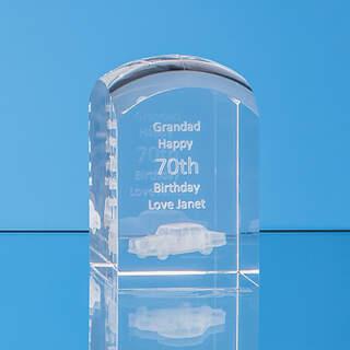 8cm x 5cm x 5cm Optical Crystal Dome Tower