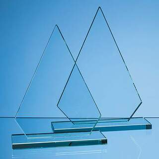 23cm x 17cm x 12mm Jade Glass Peak Award