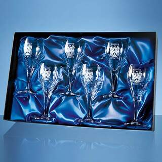 Universal 6 Wine Glass Satin Lined Presentation Box