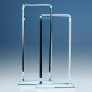 33cm x 12.75cm x 12mm Clear Glass Echo Award