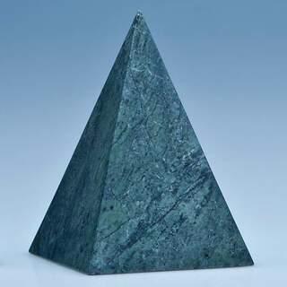 12.5cm Green Marble 4 Sided Pyramid Award