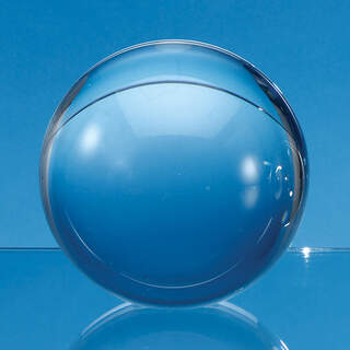 6cm Optical Crystal Sphere with a Flat Base