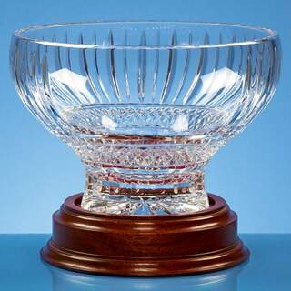 22cm Lead Crystal Heeled Presentation Bowl
