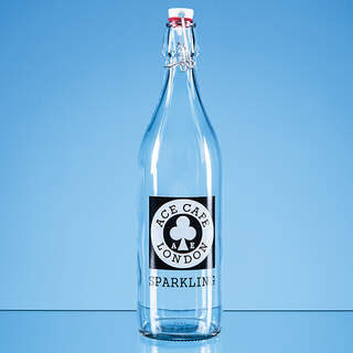 1ltr Round White Cap Swing Top Bottle - not suitable for carbonated liquids