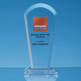 21.5cm Optical Crystal Half Moon Arch Award