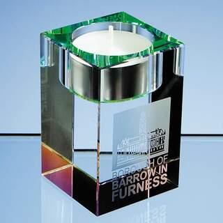 8cm Optical Crystal Tealight Holder