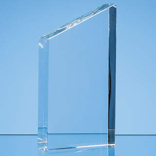 17.5cm Optical Crystal Diagonal Slope Award