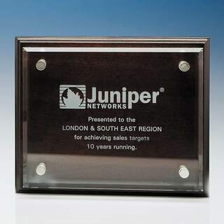 15.5cm x 20.5cm Clear Rectangle mounted on a Mahogany Plaque