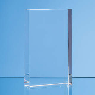 12cm x 8.5cm Optical Crystal Rectangle Award, H or V