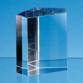 9cm Optical Crystal Irregular Pentagon Award