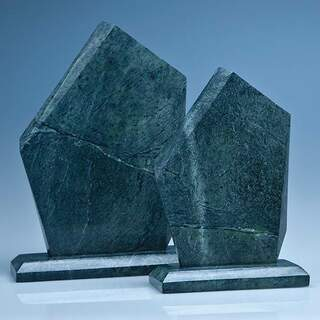 20cm Green Marble Facetted Ice Peak Award