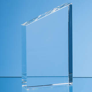 15.5cm Optical Crystal Diagonal Slope Award