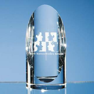 14cm Optical Crystal Cylinder Award