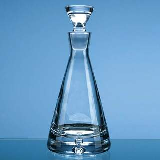 0.37ltr Handmade Bubble Base Pyramid Decanter
