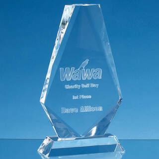 25cm Optical Crystal Cropped Iceberg Award